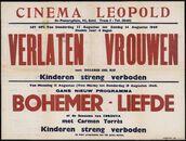 Verlaten vrouwen (film 1), Bohemer-Liefde of de eenzame van Cordoba (film 2), Cinema Leopold, Gent, 11 - 18 augustus 1949