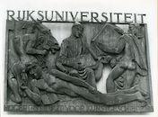 Gent: Sint Hubertusstraat: Bronzen reliefplaat, 1948