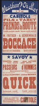 Waarheen? Où aller? Filmvertoningen in Capitole, Savoy, Gent, 6 - 12 mei 1938