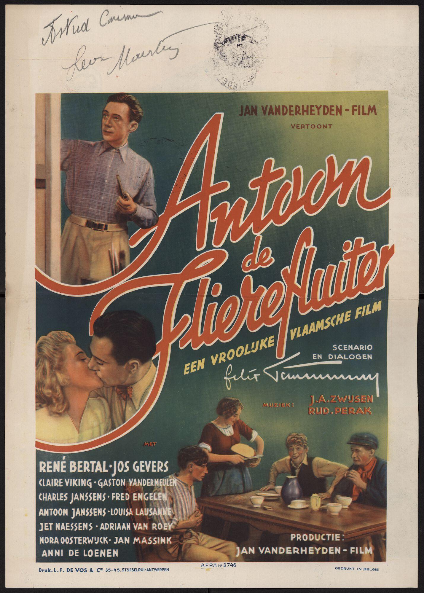 Antoon de flierefluiter, Astrid cinema, Gent, 1943