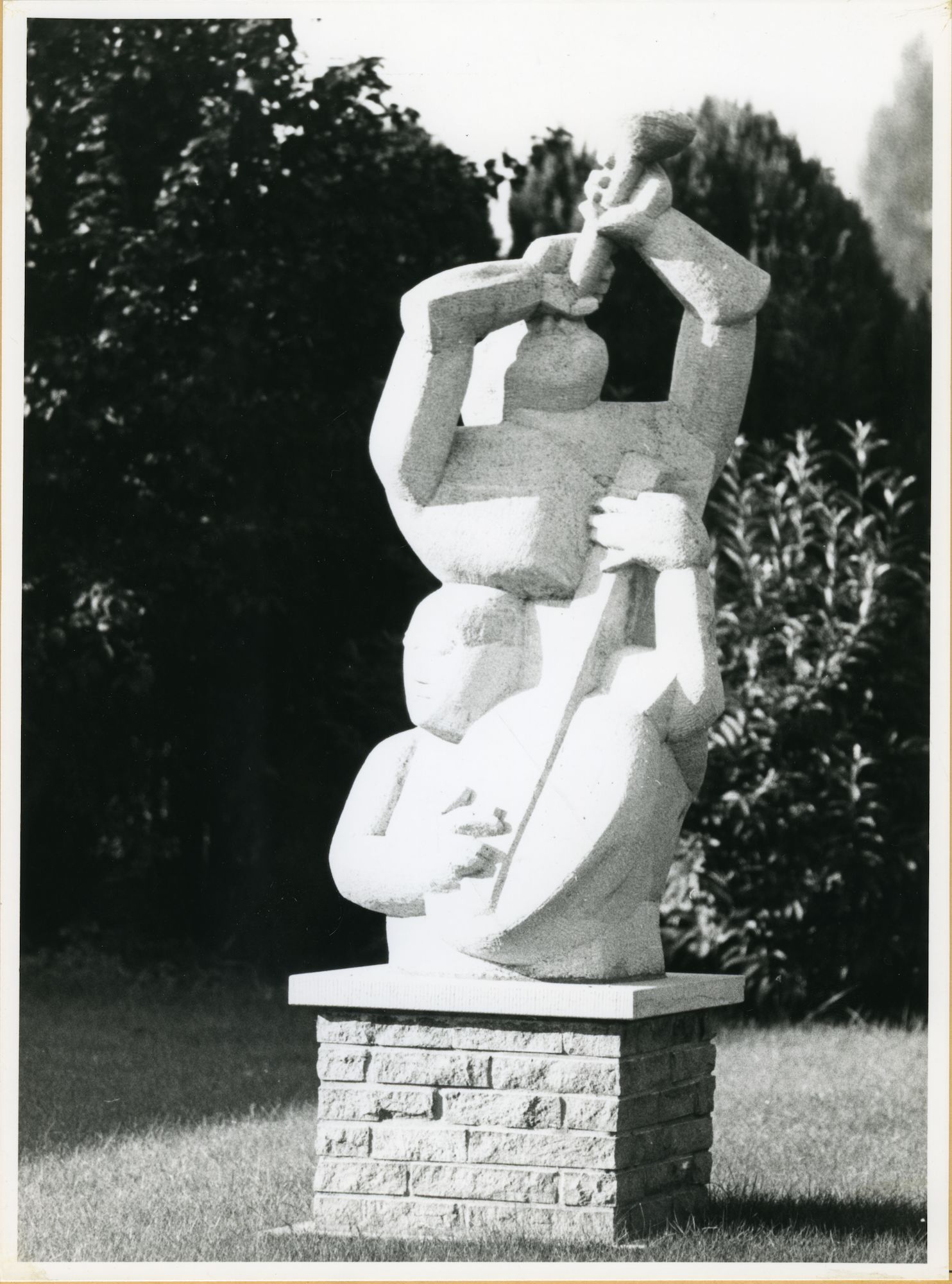 Drongen: Merendreese Aardeweg 73: Beeldhouwwerk, 1979