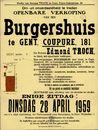 Openbare verkoop van een burgershuis te Gent, Coupure, nr.181, Gent, 28 april 1959