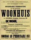 Openbare verkoop van een welgelegen woonhuis te Ledeberg, Brusselse Steenweg, nr.190 (Brusselsesteenweg), Gent, 10 februari 1959