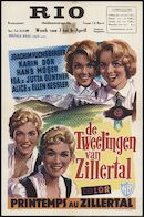 Printemps au Zillertal | De tweelingen van Zillertal, Rio, Gent, 3 - 6 april 1959
