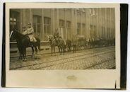 Gent: Hofbouwlaan: Etappen-Sanitätsdepot (hoofdapotheek van de etappe), Trainkolonne (transport naar het front), 1915-1916