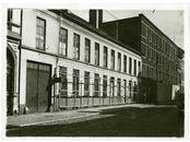 Gent: Sint-Pietersnieuwstraat, textielfabriek Feyerick na 1933 voor de afbraak voor het Technicum (1934-1938)