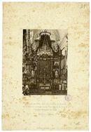 Gent: Burgstraat: kerk van de paters Ongeschoeide Karmelieten, hoogaltaar, 1883