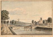 Gent: Coupure, Rozemarijnbrug en Wispelberg (rechts), 1821