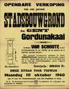 Openbare verkoop van een perceel stadsbouwgrond te Gent, Gordunakaai, Gent, 10 oktober 1960