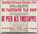 De Pacificatie van Gent. De Peer als Twistappel. Kinderen van ons volk, Koninklijke Nederlandsche Schouwburg,  Gent, 12 en 13 oktober 1940