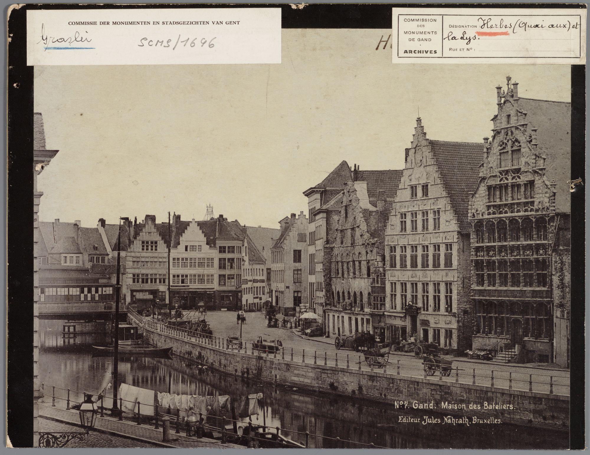 Gent: Graslei, met Korenmetershuis en Huis Vrije Schippers
