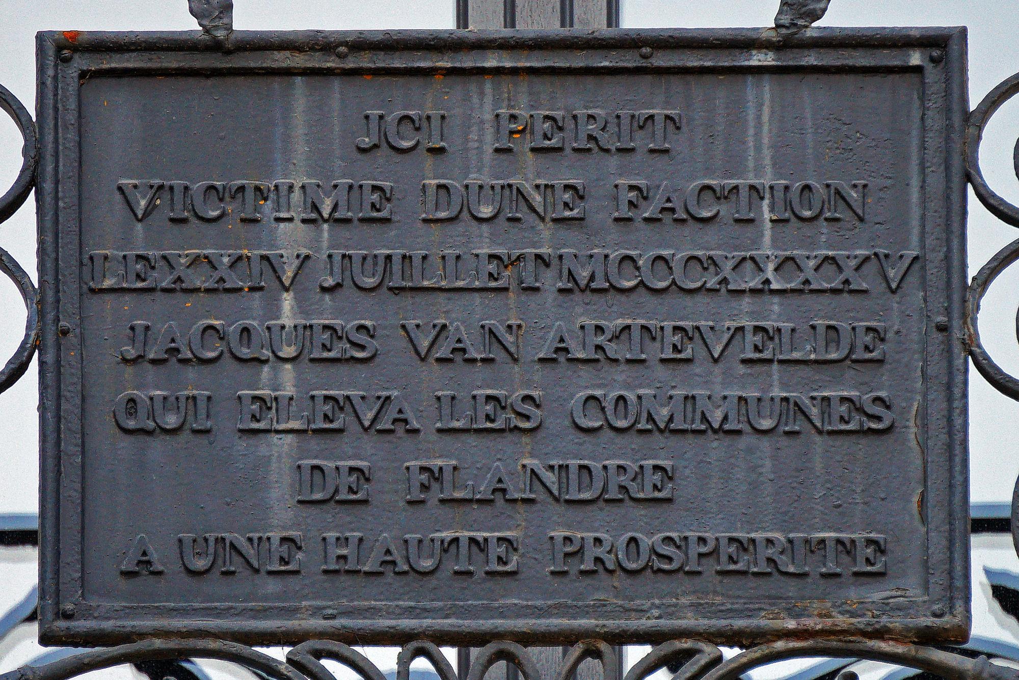 Gedenkplaat - Jacob van Artevelde