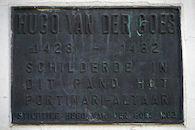 Gedenkplaat - Hugo van der Goes