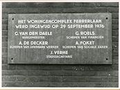 Gent: Ericastraat 1-81: gedenkplaat, 1979