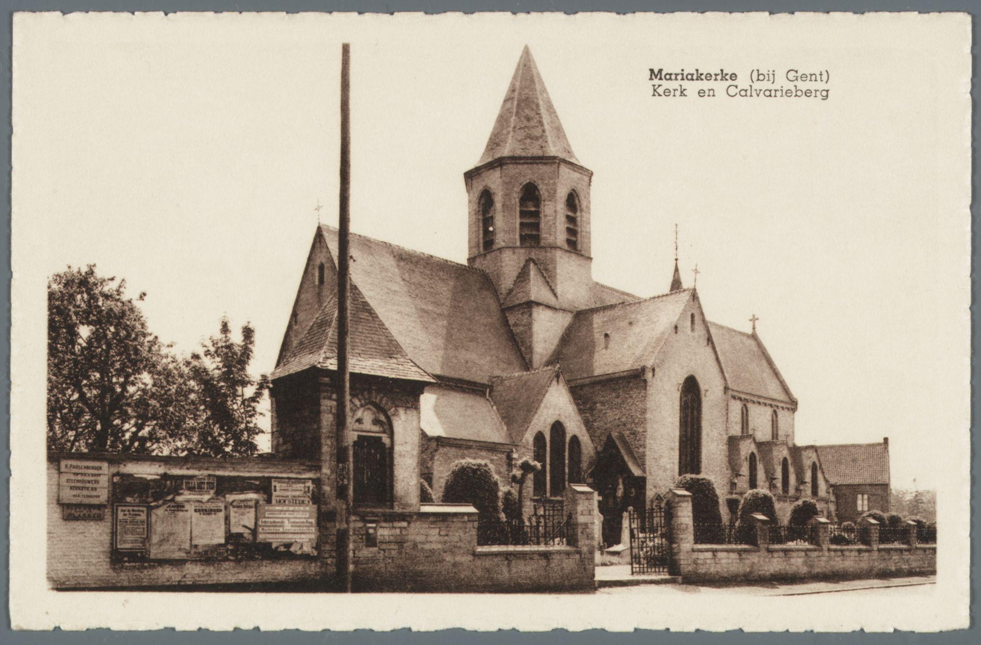 Mariakerke (bij Gent): Onze-Lieve-Vrouwekerk en Calvarie
