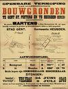 Openbare verkoop van allerschoonste bouwgronden te Gent Sint-Pieters en te Heusden (Bergen), Gent, 8 juli 1949