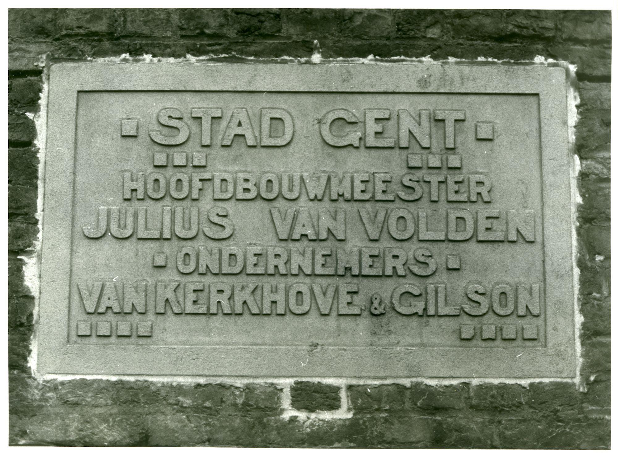 Gent: Stapelplein: Gedenksteen, 1979