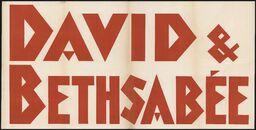 David & Bethsabée, Gent, [december 1951]