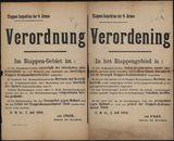Etappen-Inspektion der 4. Armee, Verordnung | Etappen-Inspektion der 4. Armee, Verordening.
