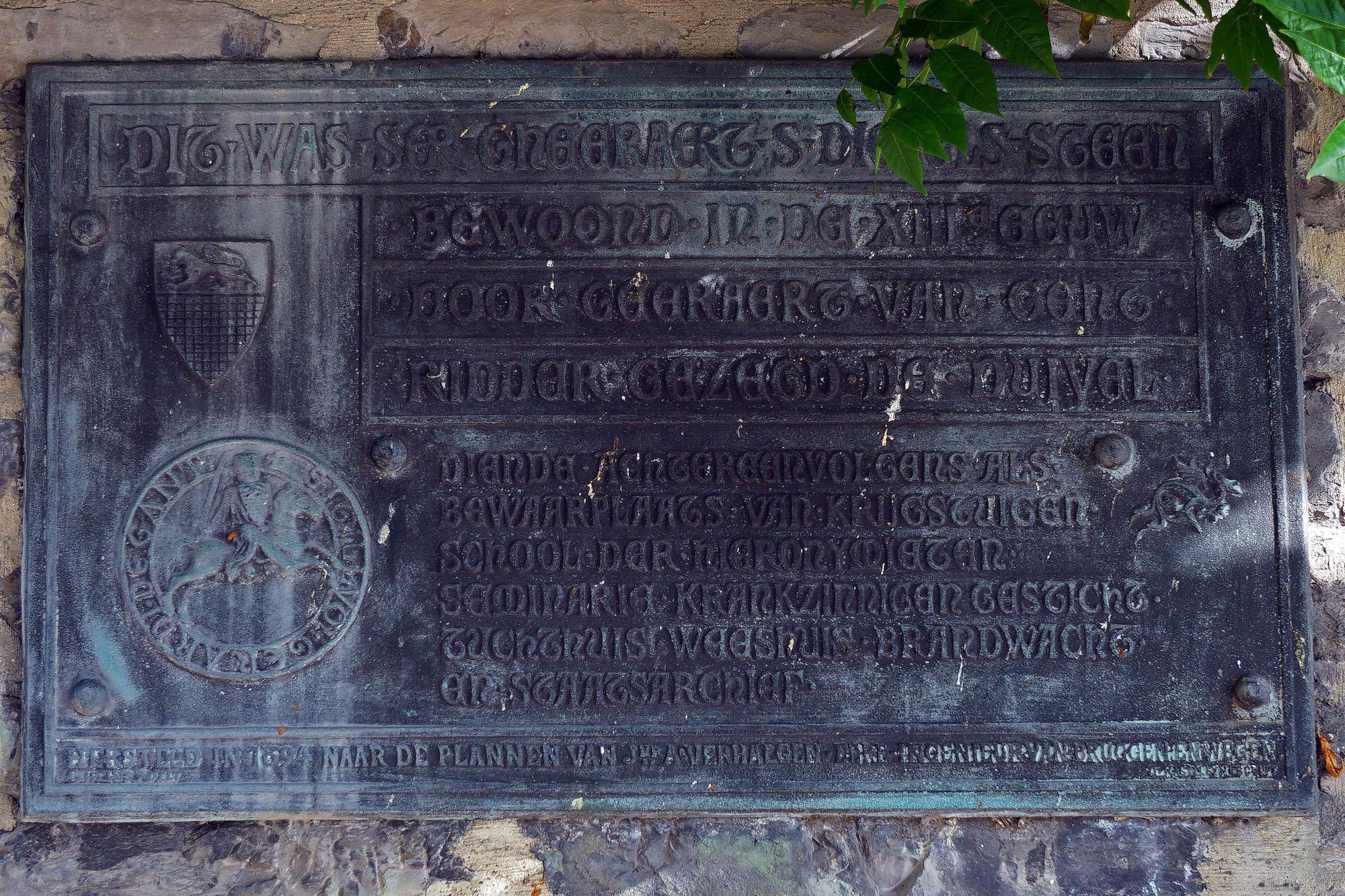Gedenkplaat - Geraard van Gent (de Duivel)
