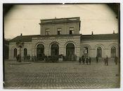 Gent: Antwerpenplein (nu Antwerpsesteenweg): het oude station Gent-Dampoort, 1915-1916