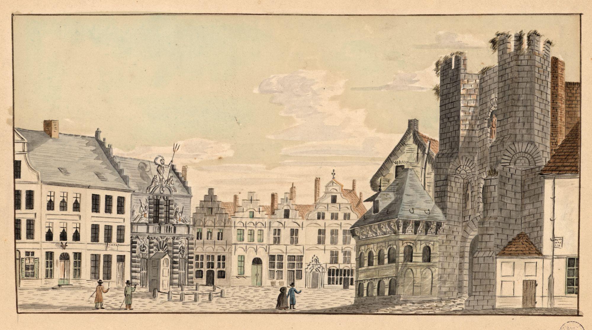Gent: Sint-Veerleplein, Gravensteen, Vismijn en Wenemaershospitaal