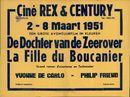 De Dochter van de Zeerover | Ciné Rex & Century, Gent 1951