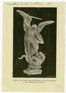 Gent: Model voor het bronzen beeld van Sint-Michiels voor de Sint-Michielsbrug te Gent, uitgevoerd door R.Rooms. Tentoonstelling der Gilde van Sint-Lucas