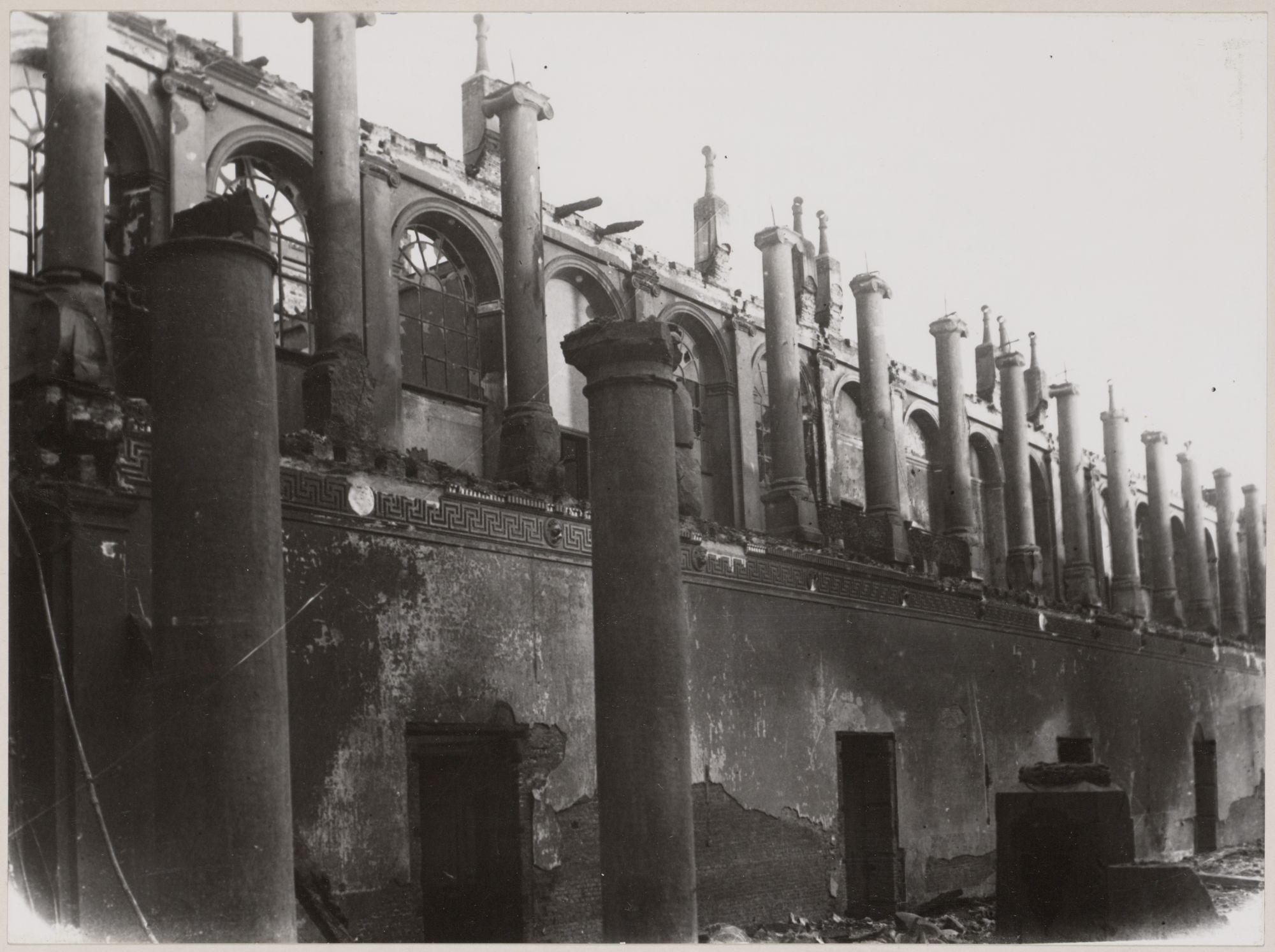 Gent: Koophandelsplein: Justitiepaleis: na de brand, 1926