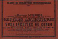 Séance de projections photographiques. Le [cinématographe] de Messieurs Lumière, maart 1896