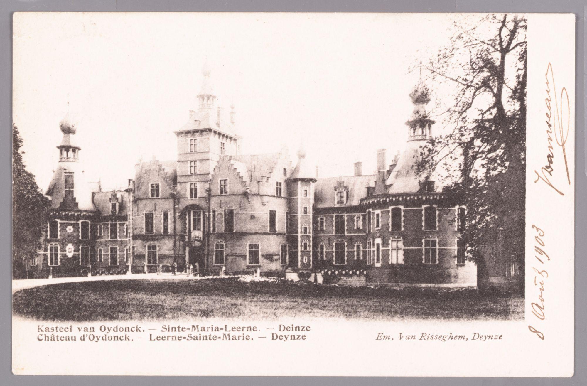 Sint-Maria-Leerne: kasteel van Ooidonk: vooraanzicht