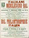 Italiaans menslievend Bal | Bal Philanthropique Italien, zaterdag 7 februari 1959 te 21h | samedi 7 février à 21 heures, in de de lokalen van de