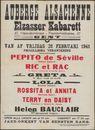 Auberge Alsacienne Elzasser Kabarett, Jazz - Orkest van Eersten Rang, Gent,  28 februari 1941