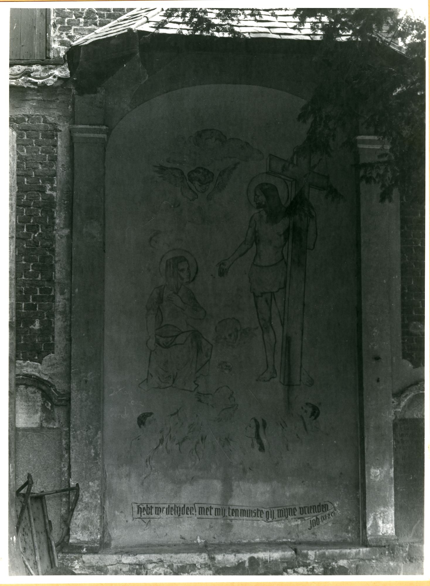 Wondelgem: Kerkdries: Fresco, 1979