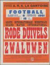 Rode Duivels tegen - contre Zwaluwen, Grote Internationale Wedstrijd - Grand Match International, Stadion J.Otten, A.R.A. La Gantoise, Gentbrugge (Arsenaal), Dinsdag - mardi 6 februari - fevrier, 1951 te / à 15 uur / heures