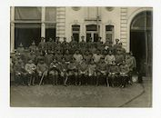 Gent: groepsportret van Duitse officieren en soldaten, 1915-1916