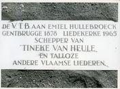 Gentbrugge: Braemkasteelstraat: Gedenkplaat, 1979