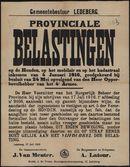 Gemeentebestuur Ledeberg, Provinciale Belastingen op de Honden, op het mobilair en op het kadastraal inkomen van 4 Januari 1916, goedgekeurd bij besluit van 24 Mei opvolgend van den Heer Opperbevelhebber van het 4e Armee.