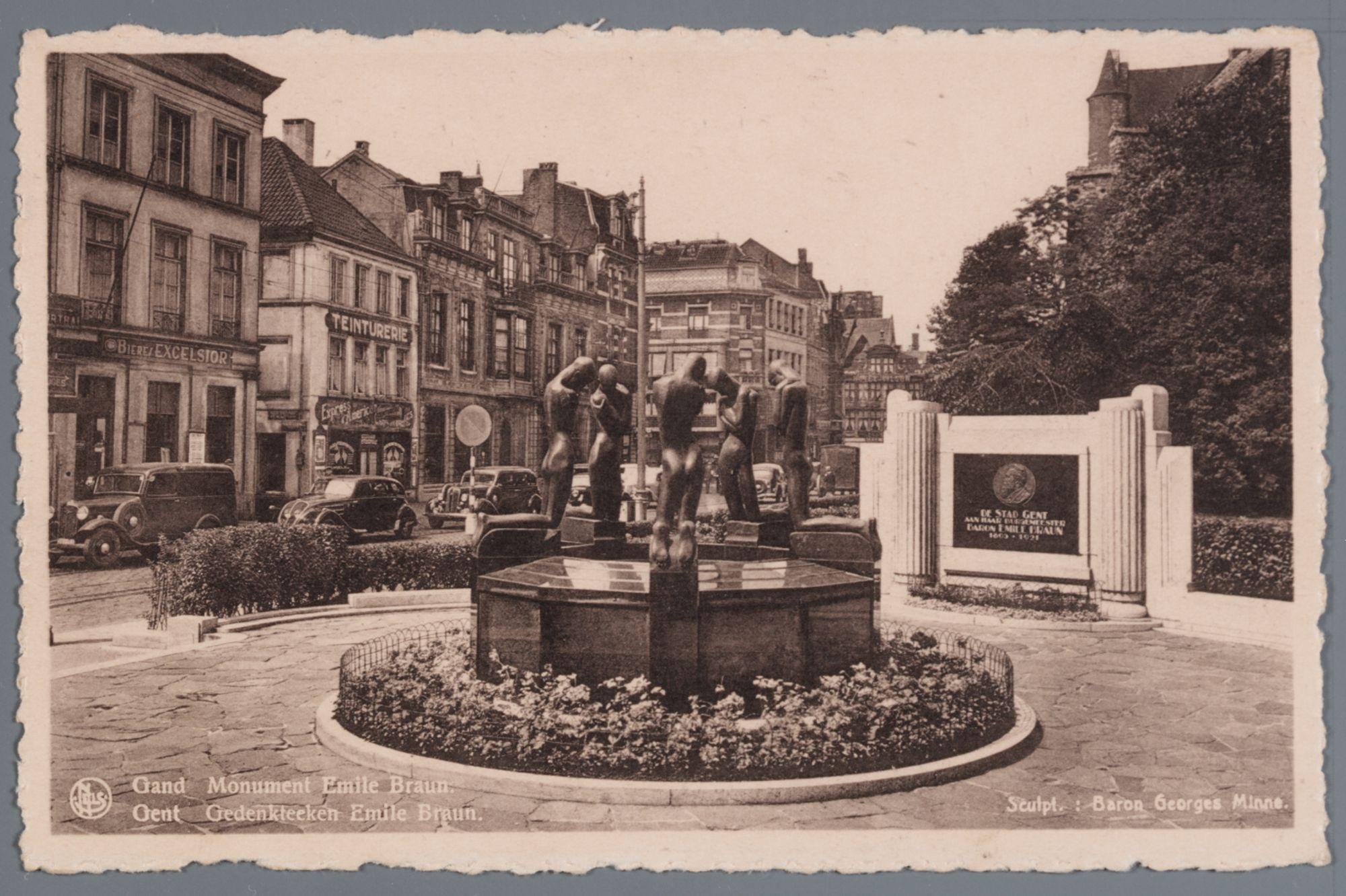 Gent: Emile Braunplein, De fontein der geknielden van Georges Minne