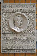 Gedenkplaat - Lambrecht Lambrechts