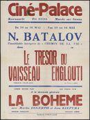 Le trésor du vaisseau englouti (film 1), La Bohème (film 2), Ciné Palace, Gent, 10 - 16 mei [1940]