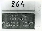 Gent: Sint Lievenspoortstraat 264: Gedenkplaat, 1979
