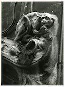 Gent: Belfortstraat 18: gevelbeeld: aap, 1980