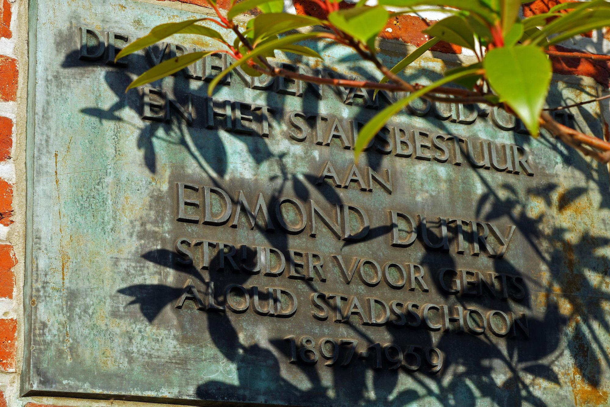 Gedenkplaat - Edmond Dutry