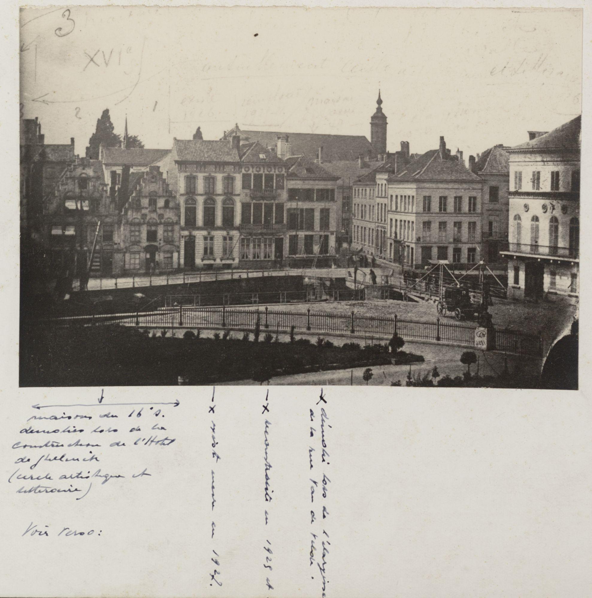 Gent: Recollettenlei, gezien vanaf het Justitiepaleis