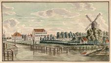 Gent: Saswijk, zicht vanaf de Tolhuisbrug