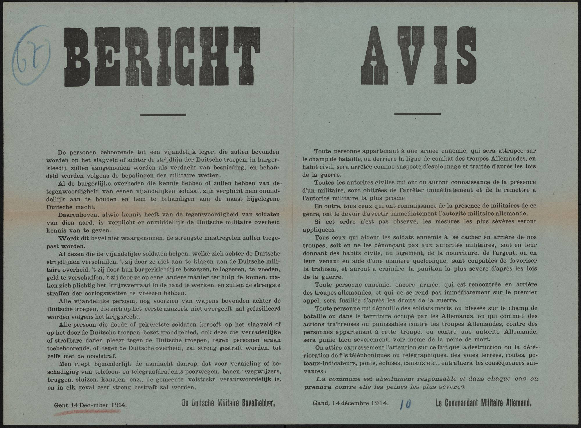 Bericht   Avis.