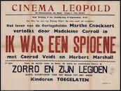 Ik was een spioene (film 1), Zorro en zijn legioen (film 2), Cinema Leopold, Gent, 9 - 15 september 1949