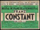 Klavierrecital door Franz Constant, Zaal van het Koninklijk Muziekconservatorium, Gent, 1947
