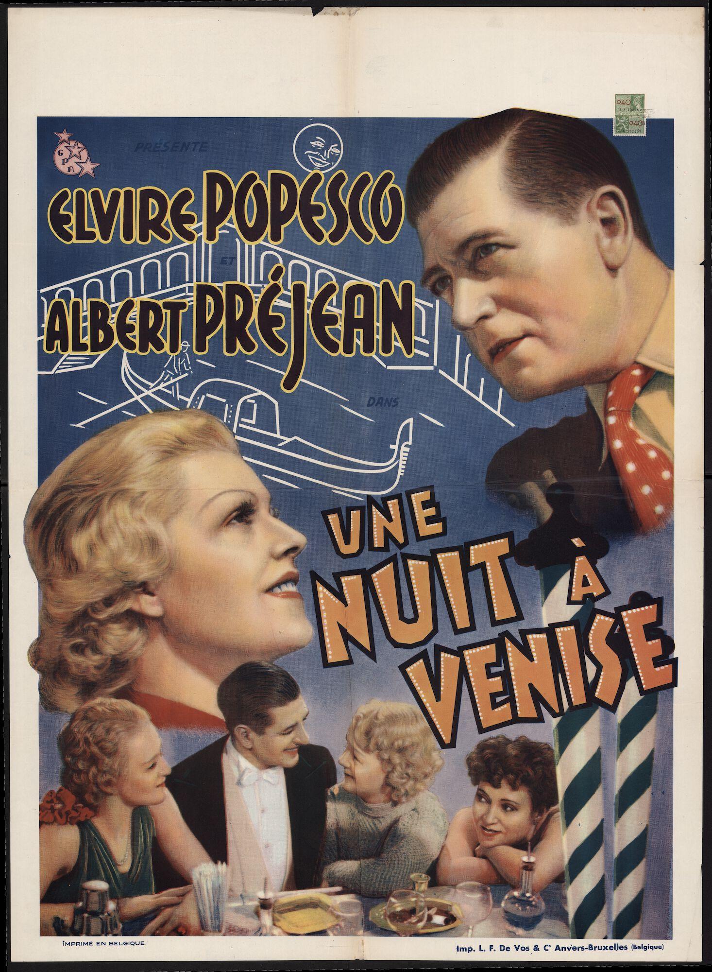 Une nuit à Venise, Gent, april 1940
